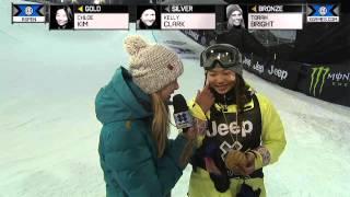 Download Chloe Kim wins gold in Women's Snowboard SuperPipe - Winter X Games Video