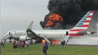 Download American Airlines Plane Fire at O'Hare Airport [RAW VIDEO] Video