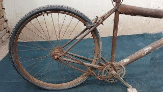 Download RESTORATION - A Villager Restoring Old Bicycle Wheel For Same other Bicycle Video