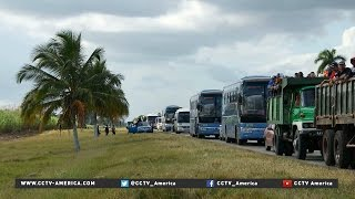 Download Cubans gather to bid farewell to their longtime leader, Fidel Castro Video