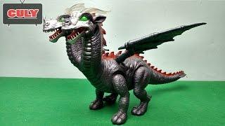 Download Khủng long bay 2 đầu quỷ địa ngục - Dinosaur 2 heads devil toy for kid - đồ chơi trẻ em Video