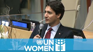 Download Justin Trudeau tells the world why ″I'm a feminist″ Video