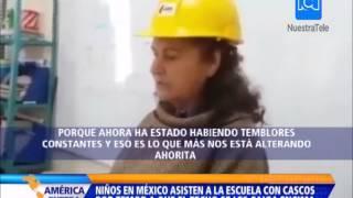 Download Niños en Sinaloa asisten a clase con casco por temor a que se caiga el techo de su escuela Video