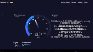 Download Turknet 50Mbit VDSL Hız Testi 2017 Video