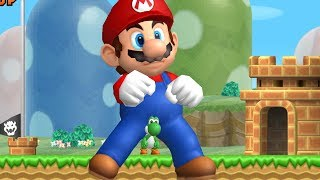 Download New Super Mario Bros Wii - All Giant Mario Power-Ups Video