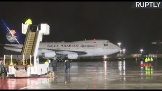 Download LIVE: Saudi king arrives in Moscow for historic state visit Video