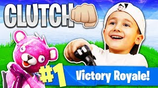 Download 7 Year Old Kid Gets His First Victory Royale! (Fortnite: Battle Royale) Video