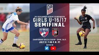 Download 2019 Development Academy Finals: U16/17 Girls Semifinal - FC Dallas vs. Lonestar SC Video