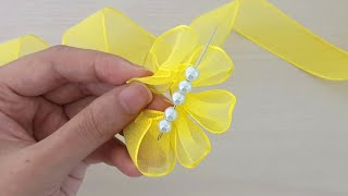 Download Amazing Ribbon Flower Work - Hand Embroidery Flowers Design - Sewing Hacks - Easy Flower Making Video