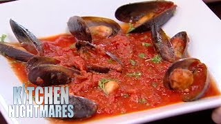 Download Gordon Ramsay Served The Smallest Portion Of Mussels He's Ever Seen | Kitchen Nightmares Video