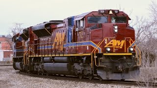 Download HD: Big Engines On A Little Railroad: Arkansas & Missouri SD70ACes Video