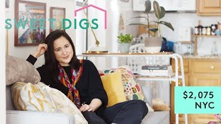 Download Explore A Charming NYC Apartment With Slanted Floors | Sweet Digs | Refinery29 Video