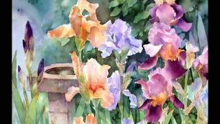 Download Ann Mortimer Акварельные цветы Video