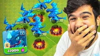 Download ATÉ ME ASSUSTEI!! TESTEI O NOVO DRAGÃO ELÉTRICO DO CLASH OF CLANS!! Video