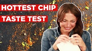 Download People Try To Eat The World's Hottest Chip Video