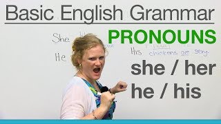 Download Basic English Grammar: Pronouns - SHE, HER, HE, HIS Video