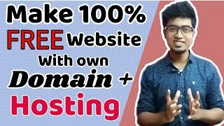 Download How to make a website with own domain + hosting 100% FREE |Website building tutorial| Video
