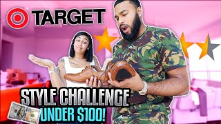 Download COUPLE STYLES EACHOTHER WITH ONLY TARGET CLOTHES ( CHALLENGE) | $100 LIMIT Video