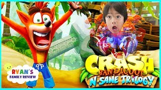 Download Crash Bandicoot N Sane Trilogy! Let's Play Game with Ryan's Family Review Video