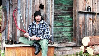 Download Alone in the Wilderness - Living in a Cabin. Part 1 Video