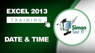 Download Microsoft Excel 2013 Training - Date and Time Function - Excel Training Tutorial Video