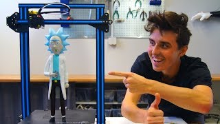 Download AWESOME 3D Printed Rick Sanchez - Creality CR-10 Print! Video