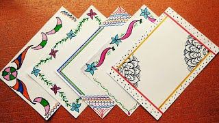 Corner Art Design Corner Design For Project Work File Border