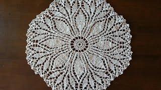 Download Crochet Doily - Fern Leaf Doily Part 3 - Final Part Video