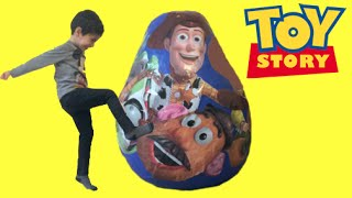 Download Toy Story GIANT Surprise Egg Opening - Buzz Lightyear, Woody, Jessie and Mr. Potato Head Toys Video