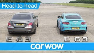 Download Mercedes-AMG E63 S vs C63 S drag race & rolling race - is there really much difference? | Head2Head Video