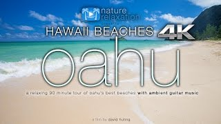 Download HAWAII BEACHES in 4K: Oahu (+ relaxing guitar music) 90 Minute Dynamic Nature Experience in UHD Video
