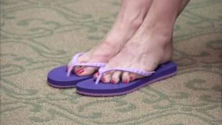Download Showaflops Flip Flops Shower Sandal on QVC Video