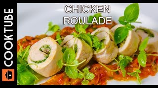 Download Chicken Roulade Recipe | Cheese, Mushroom & Spinach Stuffing Video