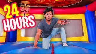 Download Trapped in a $100,000 BOUNCY HOUSE for 24 HOURS! Video