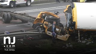 Download Raw video: School bus accident on Route 80 Video