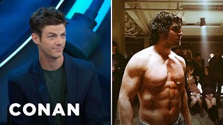 Download Stephen Amell Is So Buff, He Intimidated Grant Gustin - CONAN on TBS Video