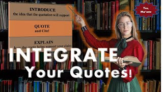 Download How to Integrate Quotations In Writing Essays-APA or MLA Video
