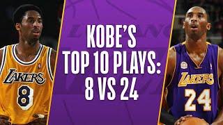 Download Kobe Bryant's Top 10 Plays Of His Career: 8 vs 24 Video