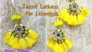 Download Mirror Latkans   Making of Designer Tassel Latkans for Lehenga at Home   Tutorial   Knotty Threadz Video