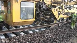 Download Amazing railway track laying machine Video