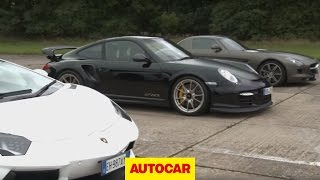 Download Lamborghini Aventador vs 911 GT2 RS vs Mercedes SLS Video