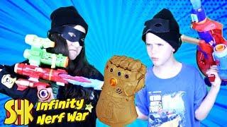Download Infinity War Nerf: Infinity Gauntlet Battle! SuperHeroKids Video