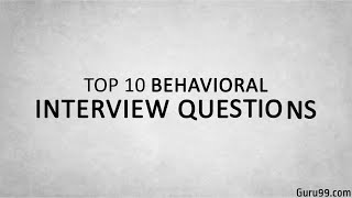 Download Top 10 Behavioral Interview Questions and Answers Video