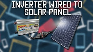 Download Inverter wired directly to solar panel Video