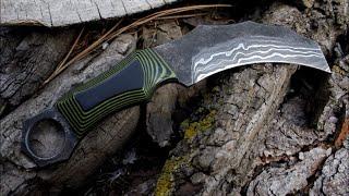 Download Forging damascus steel karambit Video