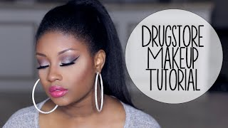 Download Drugstore Makeup Tutorial | Glam Holiday Party Look (Cool Toned Eyes + Hot Pink Lips)! Video