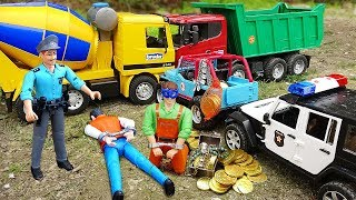 Download Police Cars Jeep Truck with Bruder Toys Vehicles for Kids Video