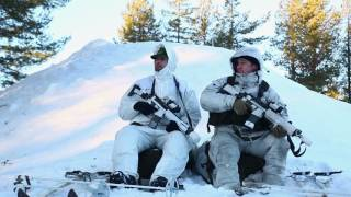 Download U.S Marines participate in Swedish Basic Winter Warfare Course Video