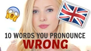 Download 10 English words that you pronounce INCORRECTLY | British English Pronunciation Video