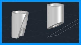 Download Autocad - Cortar sólidos 3D. Seccionar sólidos. Tutorial en español HD Video